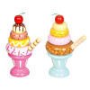 Toyslink Wooden Ice Cream Sundae - Blue and Pink