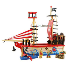 Kaper Kidz Wooden Pirate Ship Playset