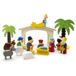 Kaper Kidz Wooden Christmas Nativity Set