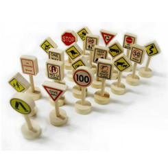 Fun Factory Wooden Traffic Signs 21pcs