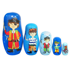 Fun Factory Wooden Pirate Nesting Dolls