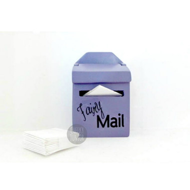 'lil Purple Fairy Mailbox with Miniature Letters