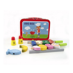 Kaper Kidz Wooden BBQ Set In Tin Carry Case