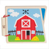 Hape At the Farm Baby Wooden Book