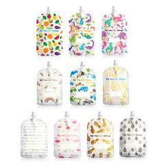 Sinchies Reusable Food Pouch - 150ml and 200ml top spout assorted designs