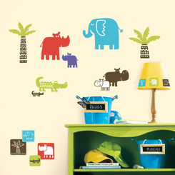 RoomMates Safari Blocks Wall Stickers