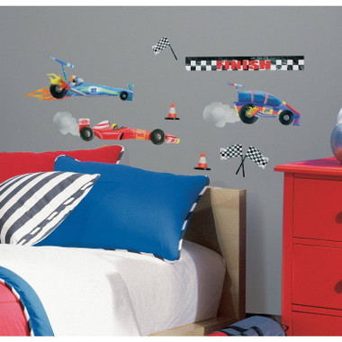 RoomMates Race Car Wall Stickers