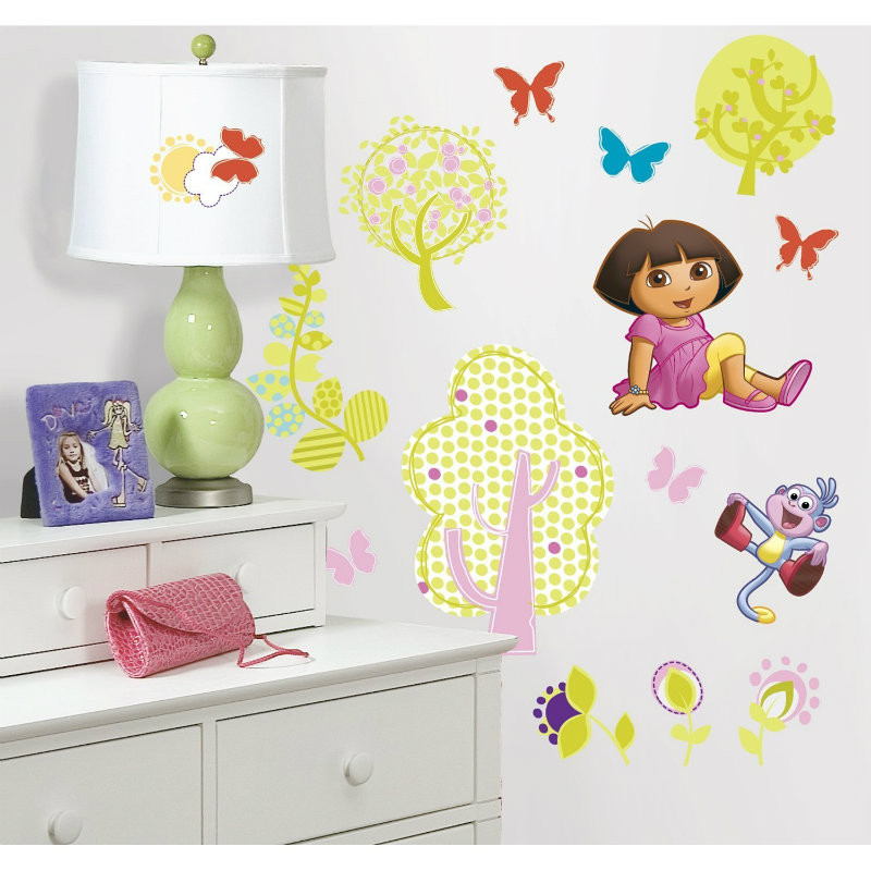 RoomMates Dora the Explorer Wall Decals (Stickers) - Cheeky Junior