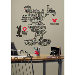 RoomMates Mickey Mouse Typographic Giant Wall Decals
