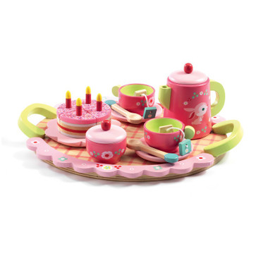 Djeco Lili Rose Tea Party Tea Set