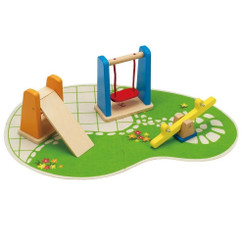 Hape Playground with swing, slide and sea-saw