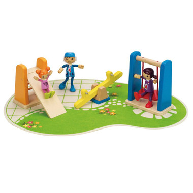 Hape Playground with doll family