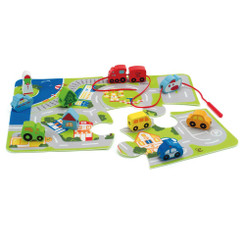 Hape Busy City Play Set - puzzle mat