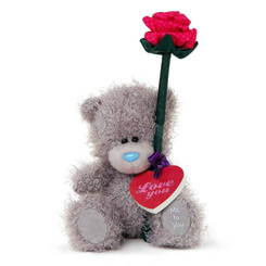 """Carte Blanche Me To You Tatty Teddy Bear Red Rose & Love You Plaque 5"""" 13cm"""