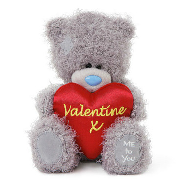 """Carte Blanche Me To You Tatty Teddy Valentine Red Heart Cushion 7"""" 18cm"""