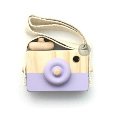 Behind The Trees Wooden Toy Camera - Princess Satin Purple