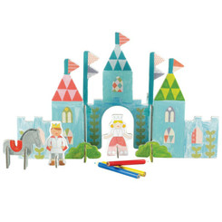 Tiger Tribe Petit Collage Pop-out Colour in Castle