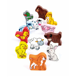 Hape Farm Animals 12 pieces