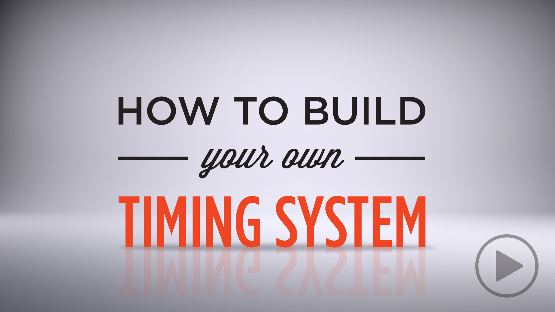 How to Build Your Own Race Timing System