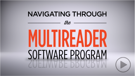 Navigating Through the Multireader Software Program