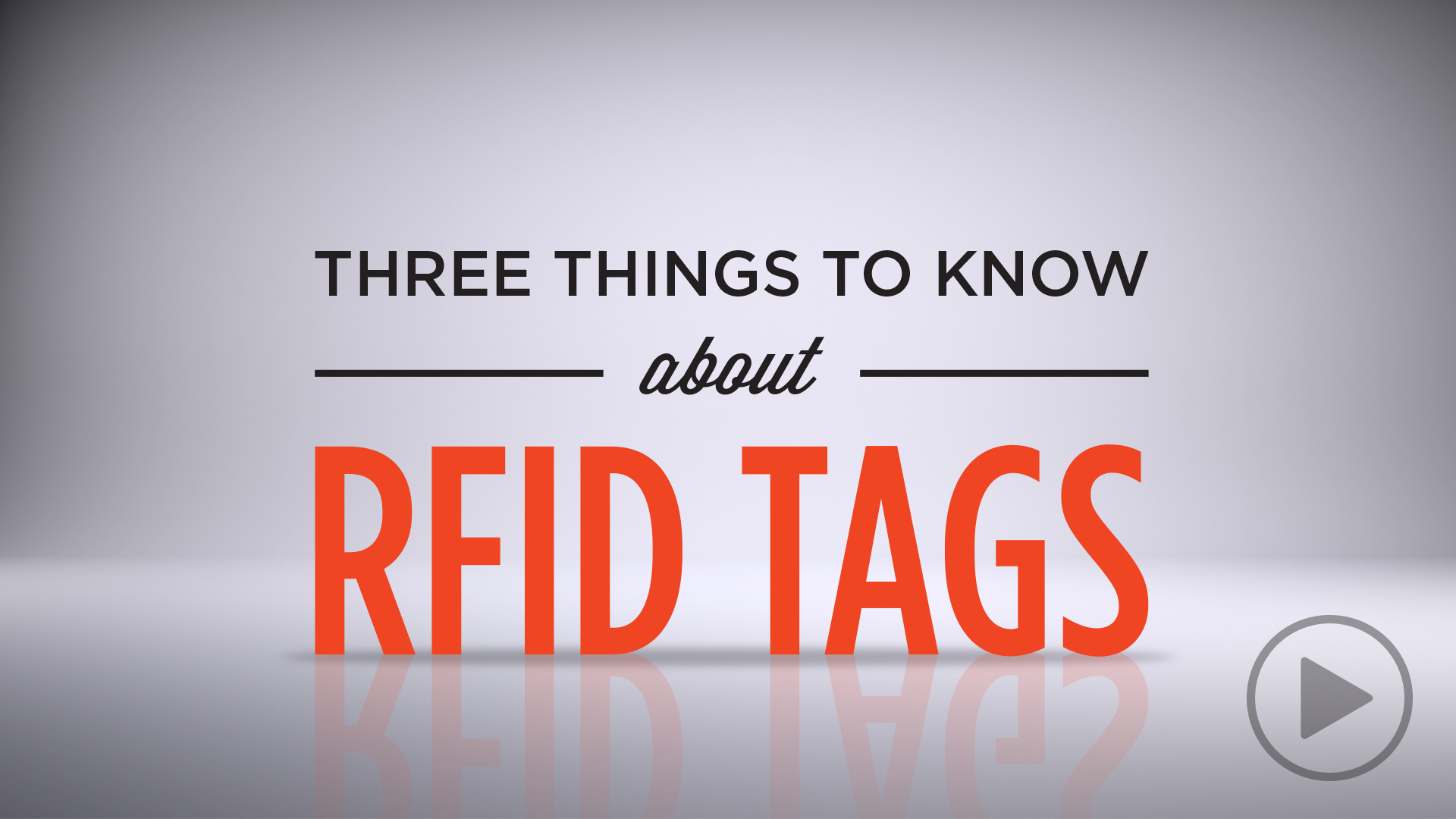 Three Things to Know about RFID Tags