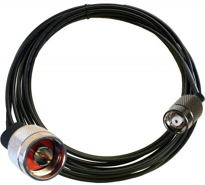 12 ft Antenna Cable (LMR-195, RP-TNC Male to N-Type Male) | 195_RP-TNC-M_N-Type-M_12