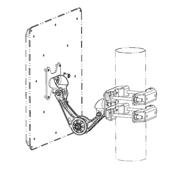 Kathrein Wide Range 40° RFID Antenna Mounting Kit