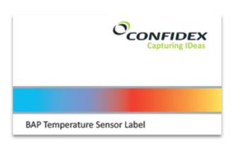 Confidex Temperature Monitoring UHF RFID Label | 3000499
