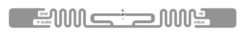 Alien Squiggle RFID Clear Wet Inlay (ALN-9840, Higgs-EC)  ALN-9840-WRC