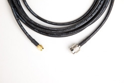12 ft Antenna Cable (195 Series, RP-TNC Male to SMA Male) [B-Stock] | Note: Connector Type Colors May Vary