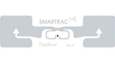 Custom Foam Backed SMARTRAC R6 DogBone RFID Tag