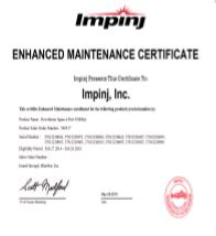 Impinj Enhanced Maintenance Package (Speedway Revolution R120 Reader - 1 Port)   IPJ-C2120
