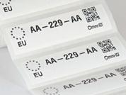 Omni-ID IQ 1200G RFID Label (866-868 MHz) - 895 Labels [Clearance] | 122-EU-B