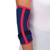 TL173 – Neoprene Elbow Support – High quality elbow brace for epicondylitis / tennis elbow, epitrochleitis / golfers elbow or following trauma to the elbow.  Provides muscle unloading, elbow protection, elbow compression and support.