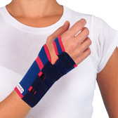 Short Wrist Support with Contoured Support Strip Close Up