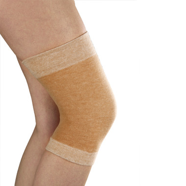 Cotton Lined Pull-on Wool Knee Sleeve