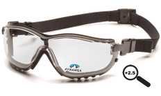 Pyramex #GB1810STR25 V2G Safety Eyewear w/ 2.5 Fog Free Clear Lens