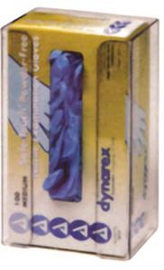 1-Box Vertical Plastic Glove Dispenser, CLEAR PLASTIC