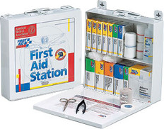 50 Person, 196-Piece, Bulk First Aid Kit - Metal Case