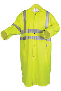 MCR Luminator 40 mm PVC 2 Piece Class III Raincoat Yellow with Silver Stripes