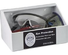 60-Pair Foam Ear Plug Dispenser No lid, WHITE HEAVY-DUTY PLASTIC