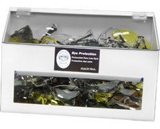 70-Pair Safety Glasses Dispenser with lid, WHITE HEAVY-DUTY PLASTIC