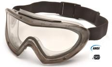Pyramex #G504DT Capstone Dual Lens Safety Eyewear Goggles w/ Clear Lens