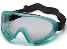 Pyramex Capstone Goggle Green Frame ~ Anti Fog Clear Lens