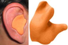 Radians Custom Molded Earplugs Orange Color
