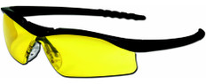 MCR Crews #DL114 Dallas Safety Eyewear w/ Amber Lens