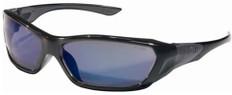 MCR Crews #FF128B Force Flex Safety Eyewear w/ Blue Mirror Lens