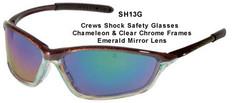 MCR Crews #SH13G Shock Safety Eyewear w/ Emerald Green Lens