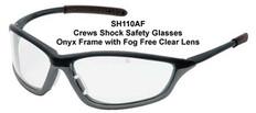 MCR Crews #SH110AF Shock Safety Eyewear w/ Fog Free Clear Lens