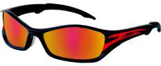 MCR Crews #TB13R Tribal Safety Eyewear Red Tattoo Frame w/ Red Fire Lens